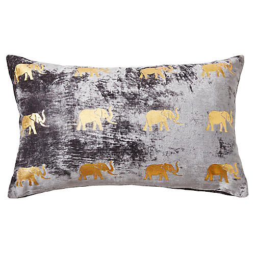 Meru 12x20 Pillow, Gray