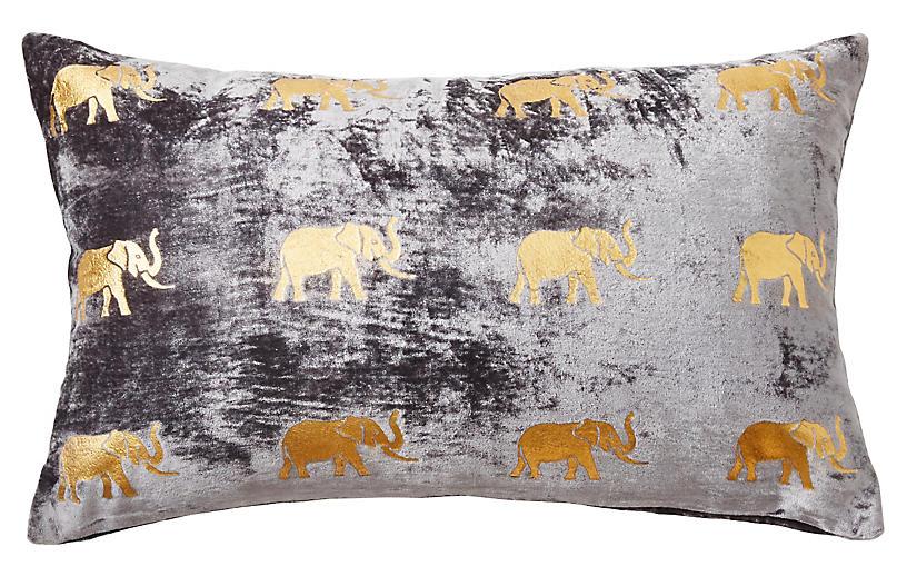 Meru 12x20 Pillow, Gray