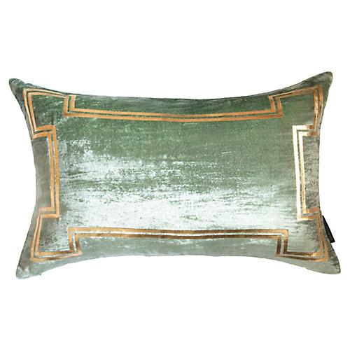 Aria 14x22 Lumbar Pillow, Seafoam