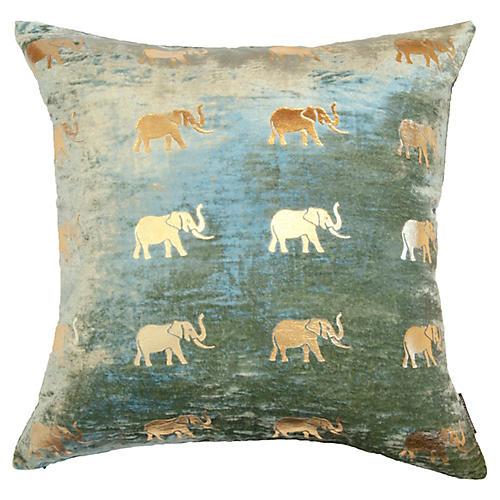 Meru 22x22 Pillow, Seafoam