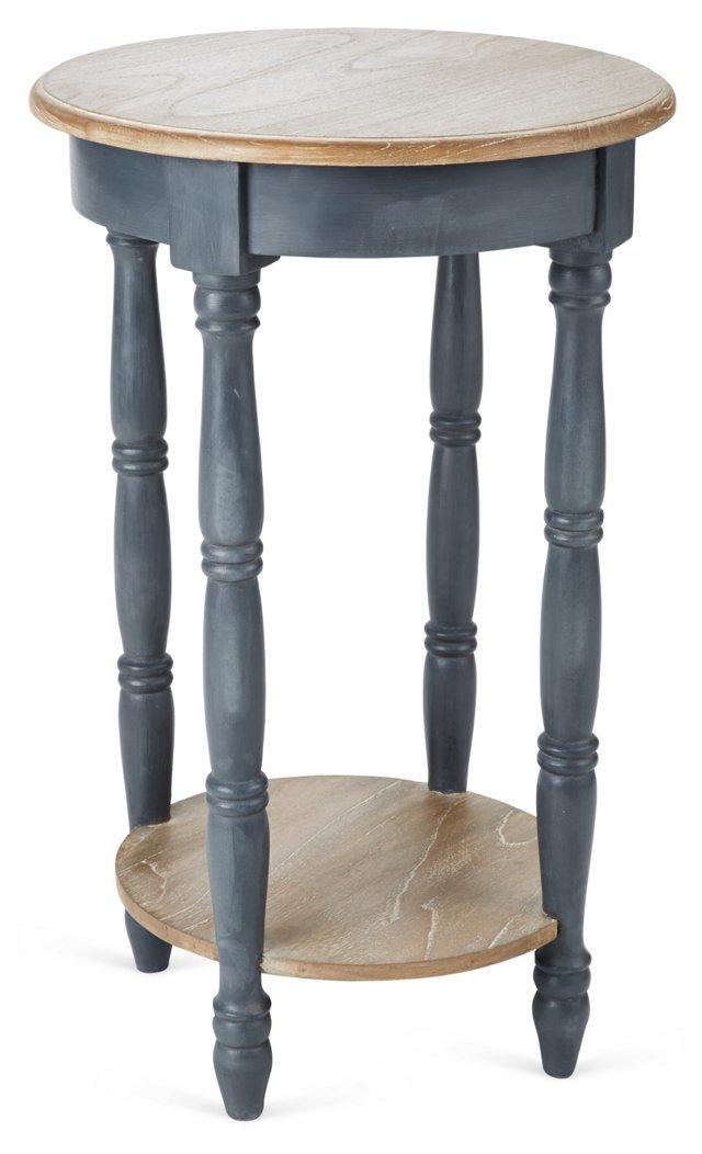 Elizabeth Side Table, Charcoal/Natural