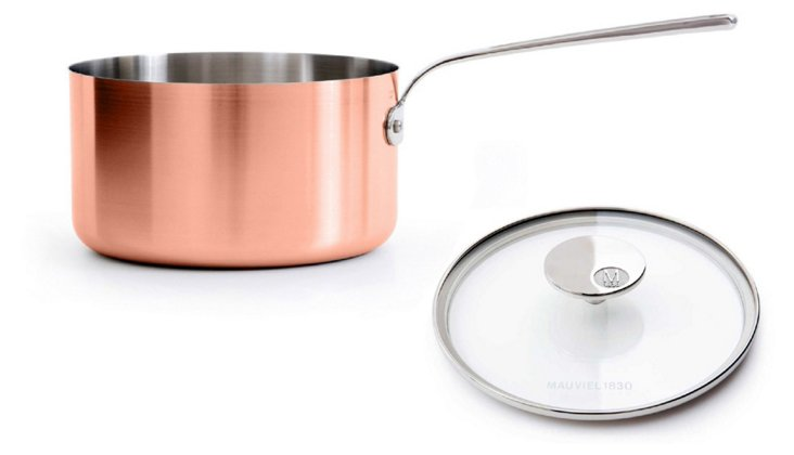 Saucepan w/Glass Lid, Copper