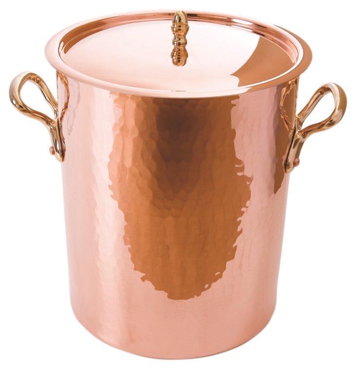 """Copper Soup Pot, 7"""""""