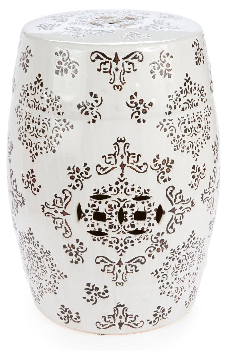 Liv Patterned Ceramic Garden Stool