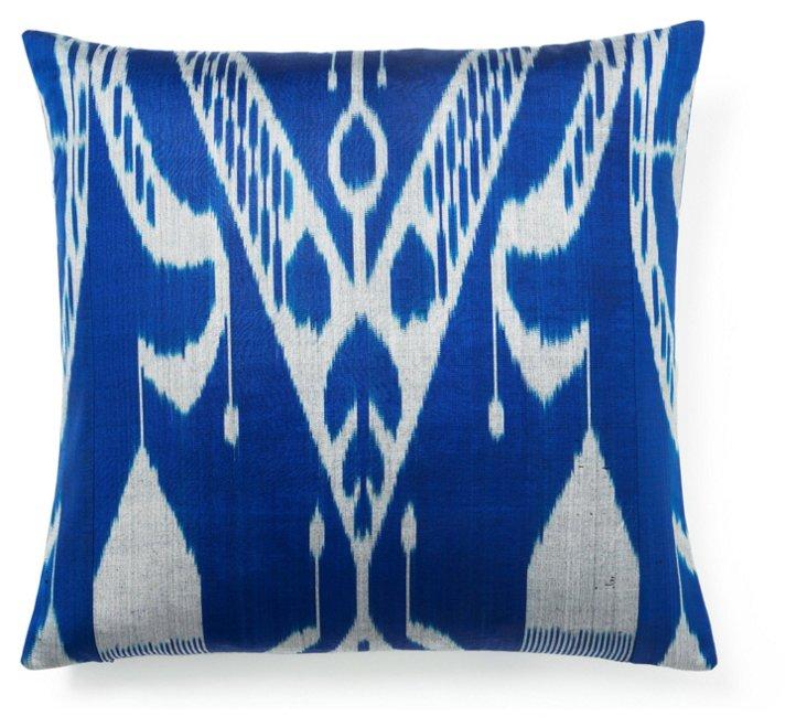 Calm 20x20 Silk Pillow, Blue