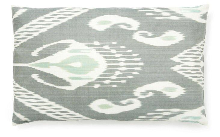 Fog 14x24 Silk Pillow, Gray
