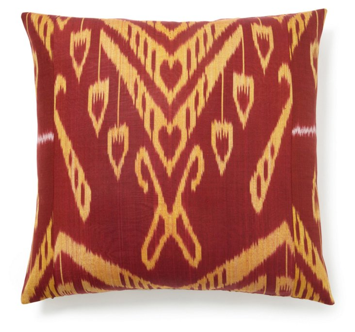 Celebrate 20x20 Silk Pillow, Red