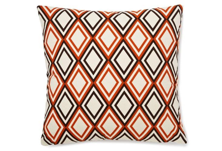 Diamond 22x22 Pillow, Orange