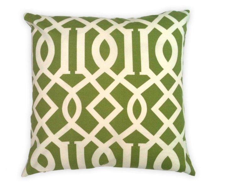 Trellis 20x20 Outdoor Pillow, Green