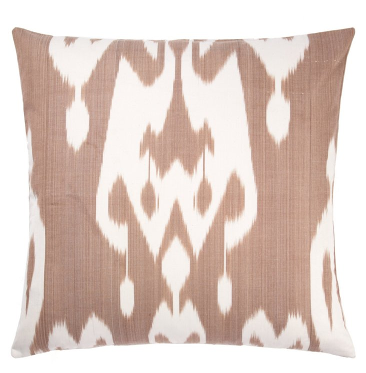 Earth 20x20 Silk Pillow, Brown