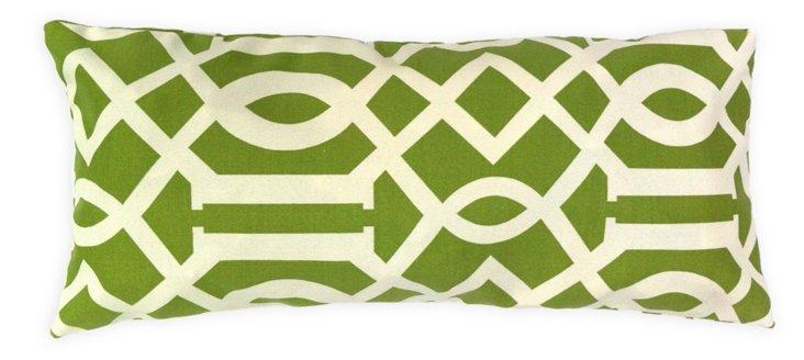Trellis 14x24 Outdoor Pillow, Green