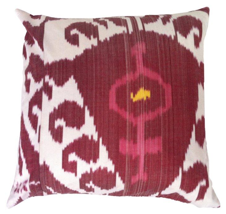 Midnight 20x20 Silk Pillow, Berry