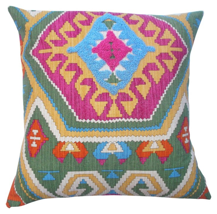 Aztec 18x18 Cotton Pillow, Multi
