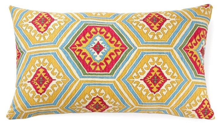 Tiles 14x24 Cotton Pillow, Multi