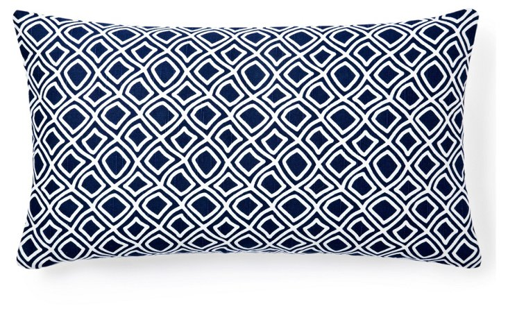 Dynamic 14x24 Pillow, Blue
