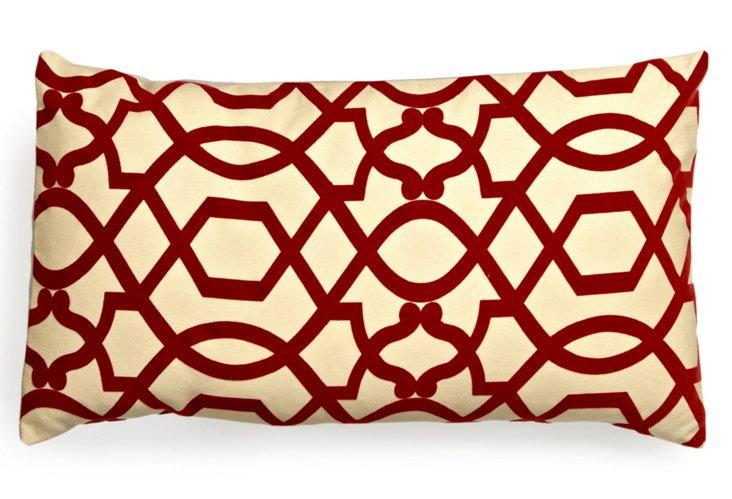 Lattice 14x24 Pillow, Red