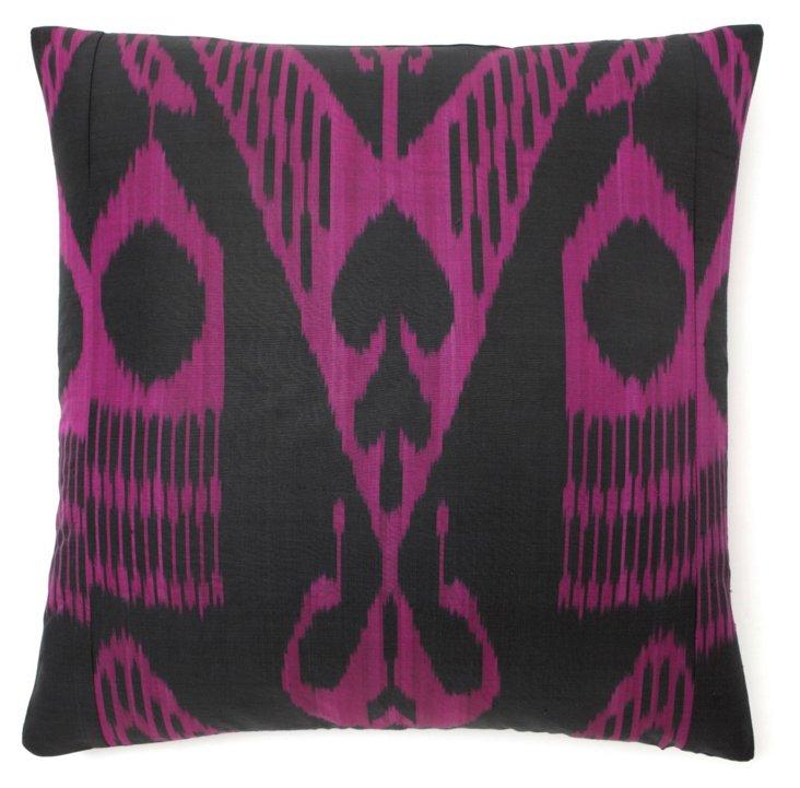 Lights 20x20 Silk-Blend Pillow, Multi