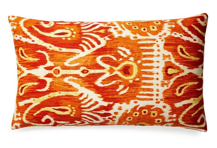 Tribal 14x24 Cotton Pillow, Orange