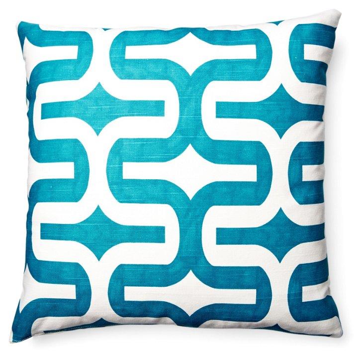 Studio 18x18 Cotton Pillow, Blue