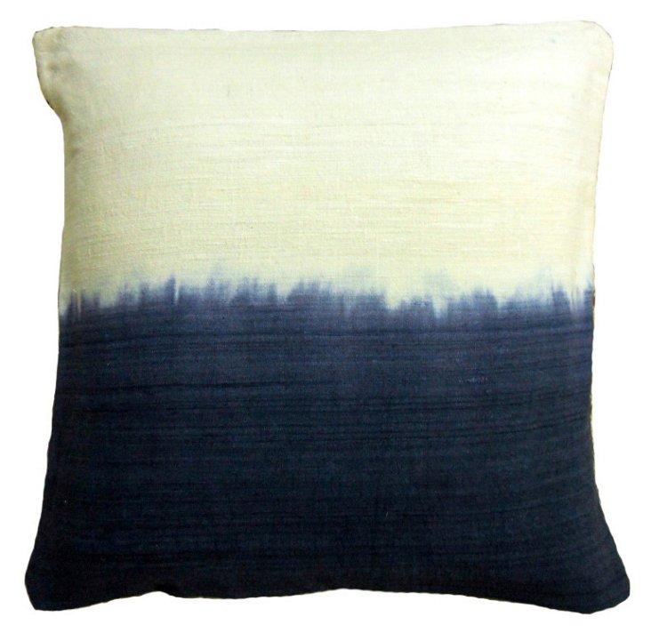 Dip Dye 20x20 Silk Pillow, Indigo