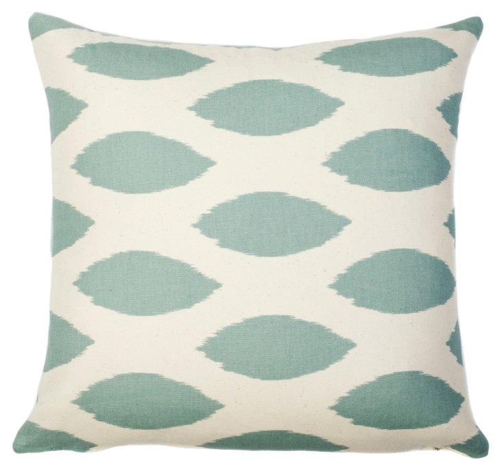 Brighton 18x18 Cotton Pillow, Blue