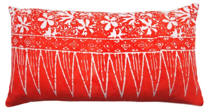 Cone 14x22 Cotton-Blended Pillow, Red