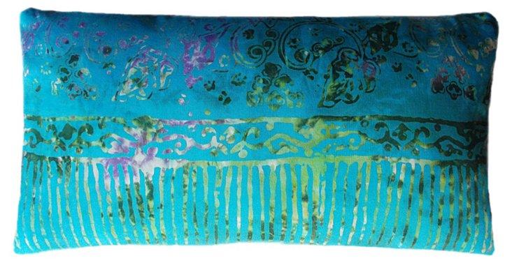 Peacock 14x22 Pillow, Blue