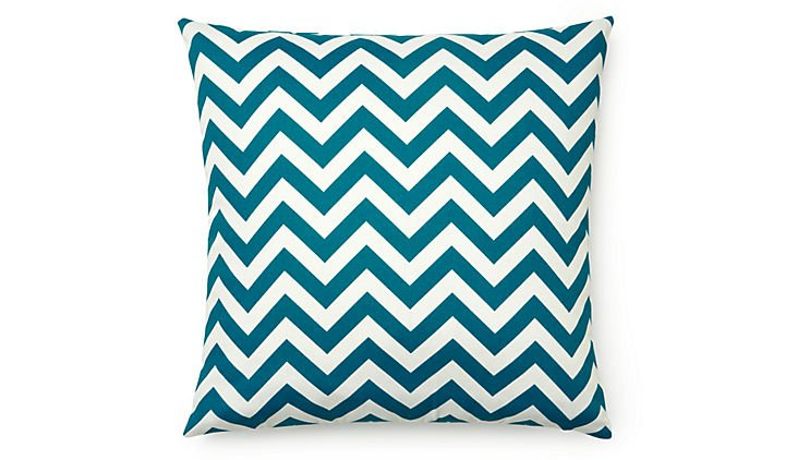 Today 18x18 Outdoor Pillow, Blue