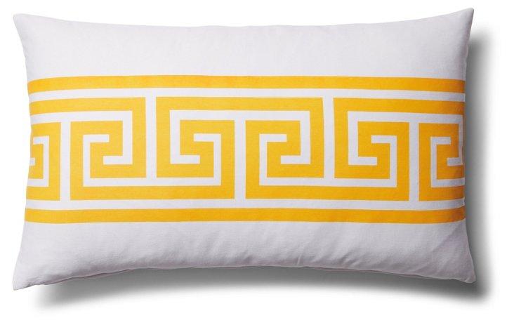 Greek Key 14x24 Outdoor Pillow, Yellow