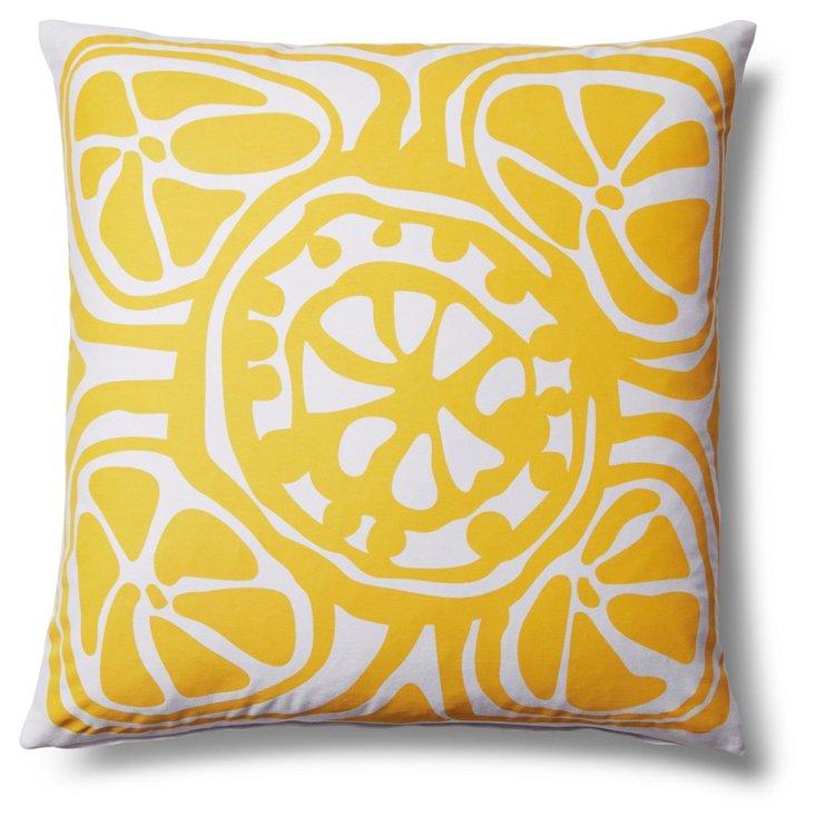 Slice 20x20 Outdoor Pillow, Yellow