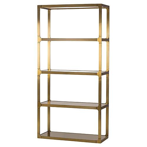 evans tagre gold - Gold Bookshelves