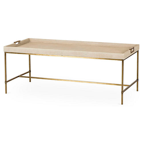 Lexi Tray Coffee Table, Ivory