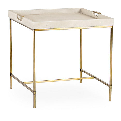 Lexi Tray Side Table, Ivory