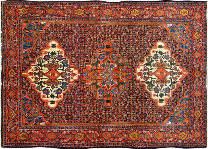 "Antique Persian Senneh, 6'7"" x 4'7"""