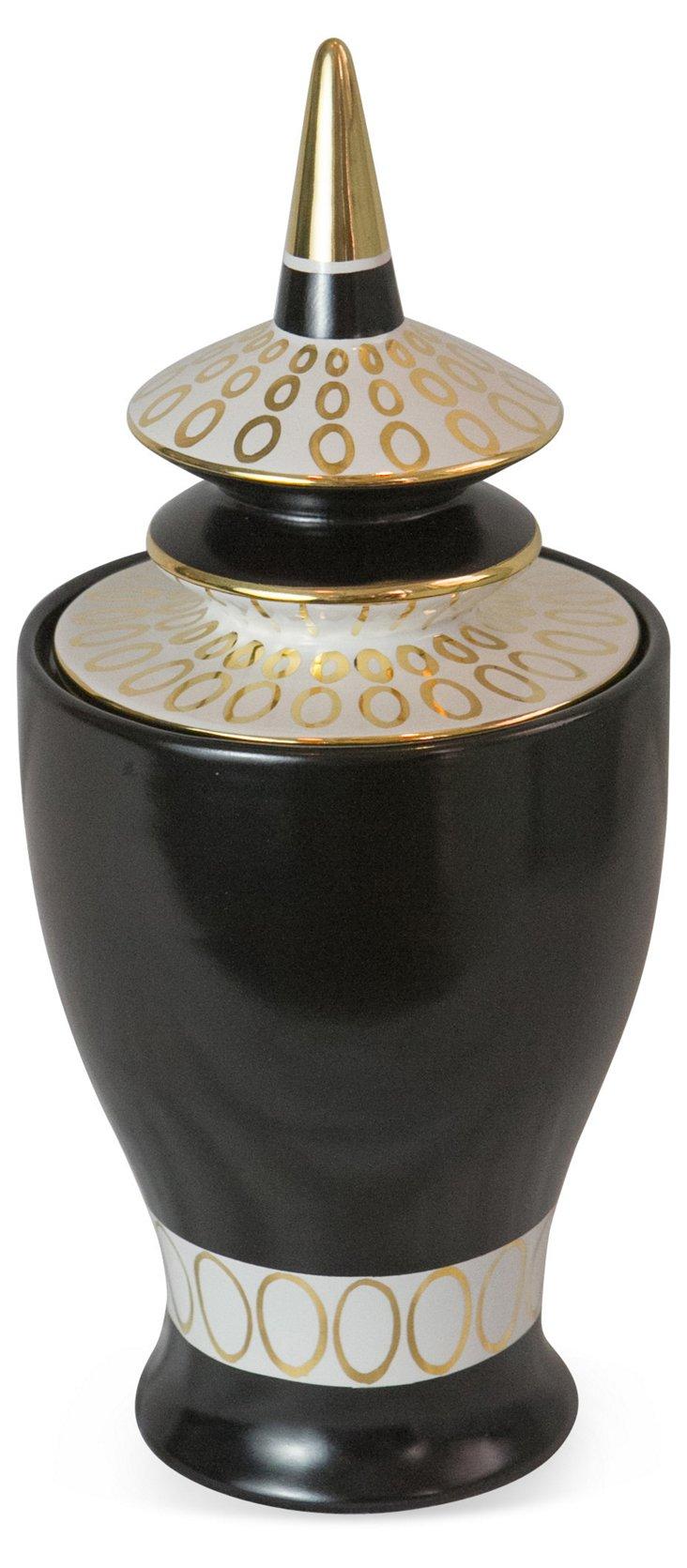 Waylande Gregory Temple Jar, Black
