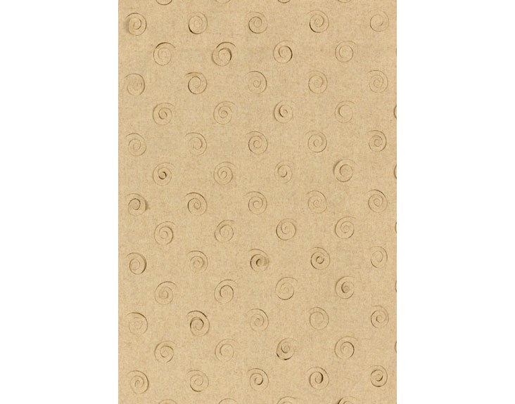 Curlicue Wool Fabric, Camel