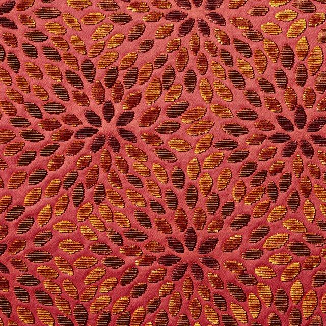 Kiku Silk-Blended Fabric, Cinnabar