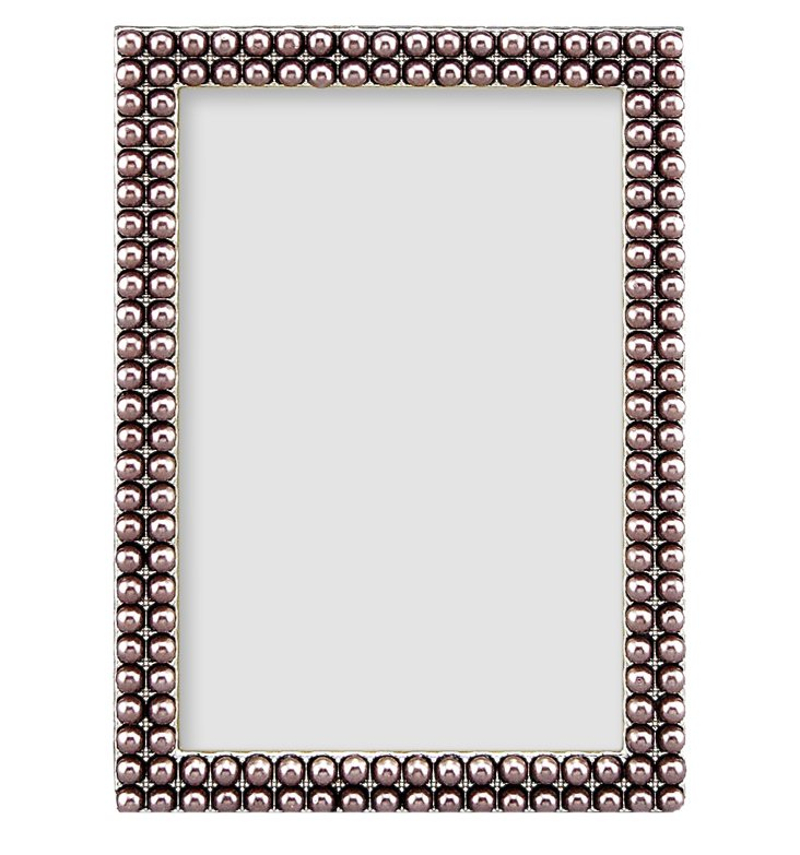 More Pearls Frame, 4x6, Gray