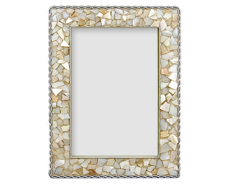 Capiz Shell Frame, 4x6, Natural