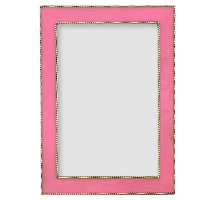 Beaded Frame, 4x6, Pink