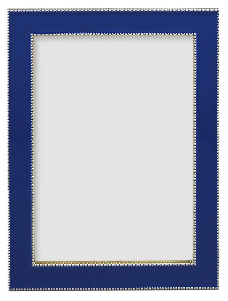 Beaded Frame, 4x6, Cobalt
