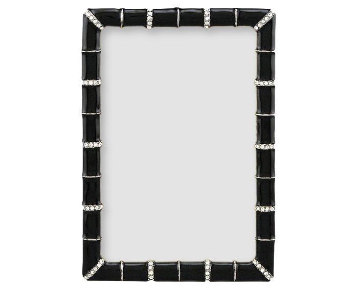 Bamboo Jeweled Frame, 4x6, Black