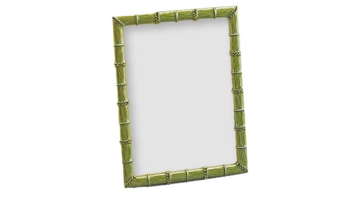 Bamboo Jeweled Frame, 5x7, Green