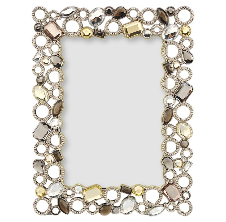 Beaded Circles Frame, 4x6, Pewter