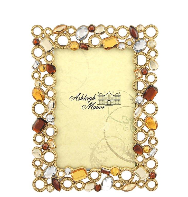 Beaded Circles Frame, 3x3, Gold