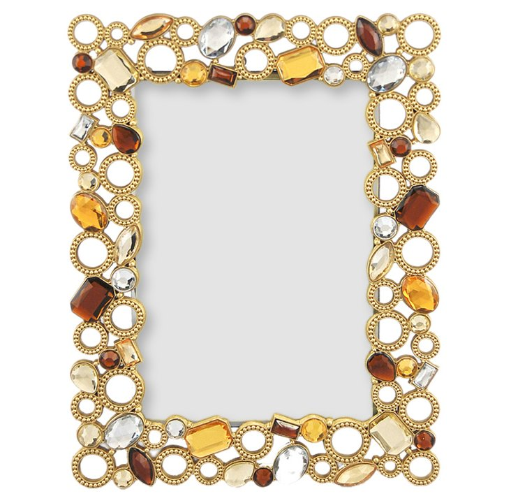 Beaded Circles Frame, 4x6, Gold