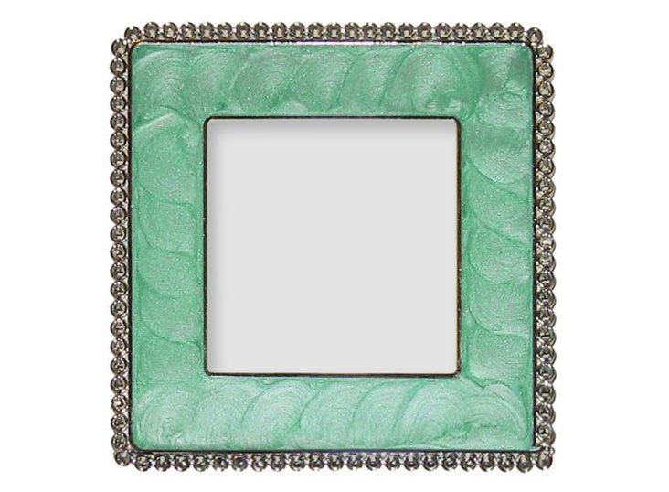 Sponge Square Frame, 3x3, Turquoise