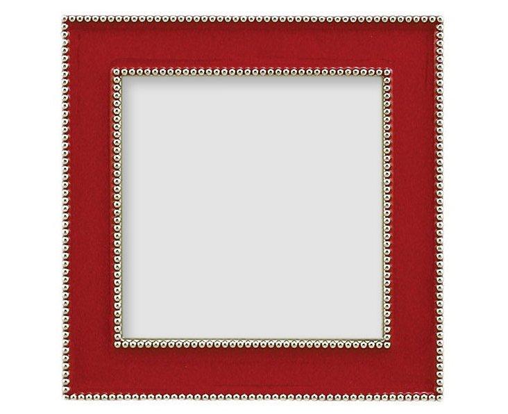 Beaded Frame, 3x3, Red