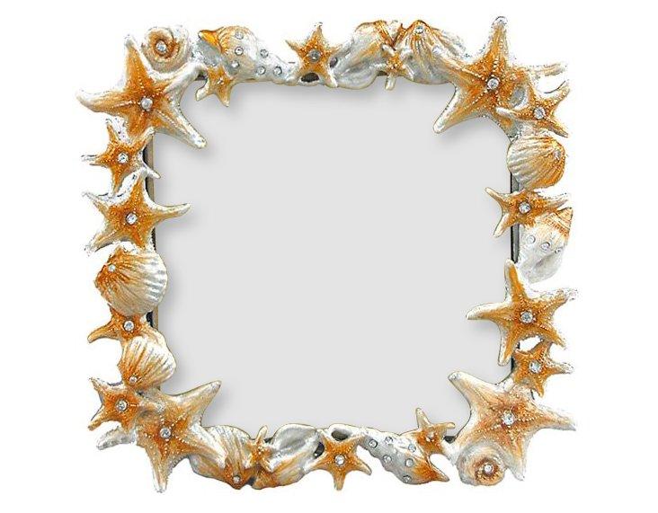 Sand & Sea Frame, 4x4, Orange/White