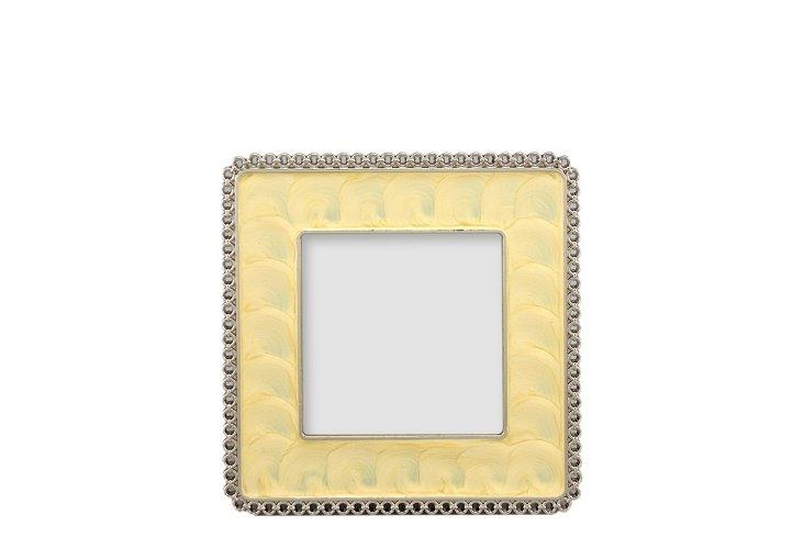 "Sponge Square Frame, 3"" x 3"", Yellow"